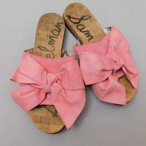 Sam Edelman Pink Bow slide sandal